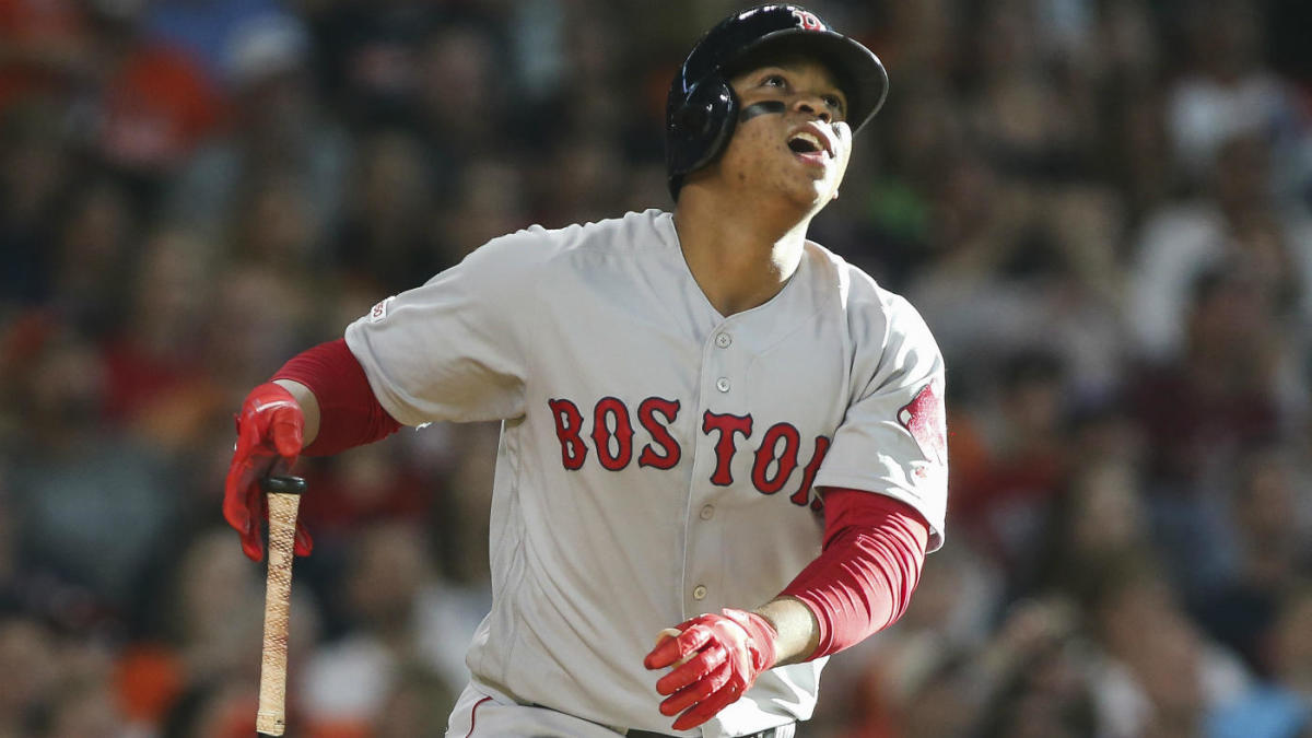 Red Sox third baseman Rafael Devers goes 6 for 6 with four doubles in historic performance