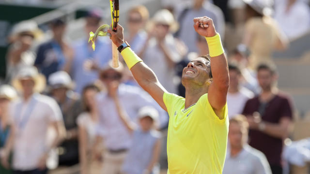 2019 French Open Rafael Nadal Beats Roger Federer In Straight Sets Advances To Men S Final Cbssports Com