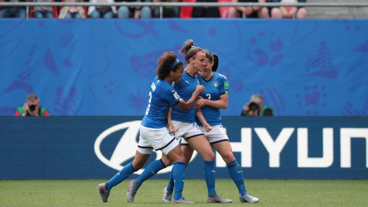 World News: Italy vs  China: 2019 FIFA Women's World Cup