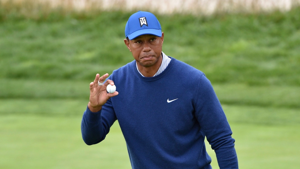 tiger woods score  putting struggles hold off a late run in round 2 of 2019 u s  open