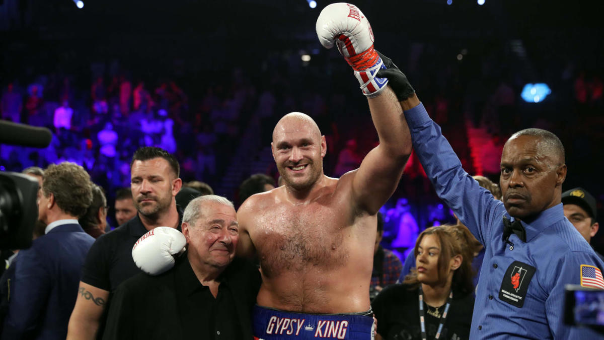 Tyson Fury vs. Tom Schwarz fight results: 'Gypsy King' dismantles opponent for quick TKO win