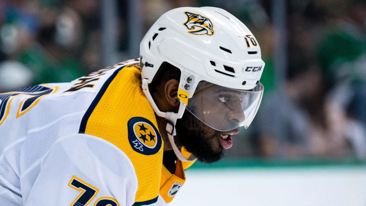 detailed pictures 66bc7 cd3c2 Devils land P.K. Subban from Predators in first blockbuster ...