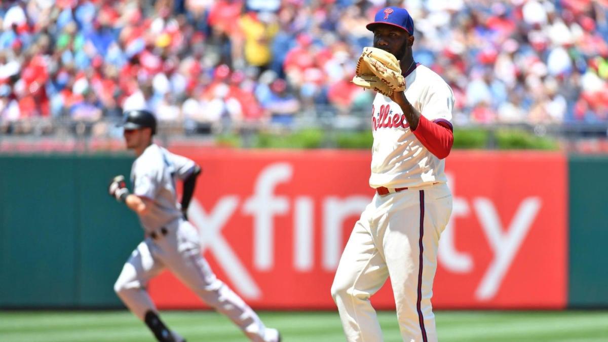 MLB scores: Phillies swept by Marlins as losing streak hits seven games; Astros avoid sweep vs. Yankees