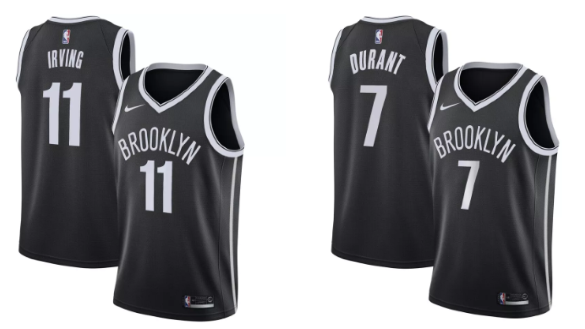 online store a1e0d 4005d LOOK: Kevin Durant and Kyrie Irving Brooklyn Nets jerseys ...