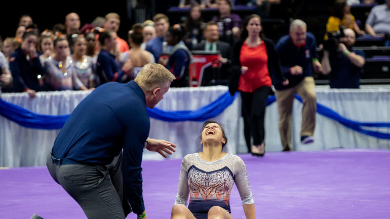 Auburn gymnast Samantha Cerio reflects on overcoming horrific injury that left her with two dislocated knees