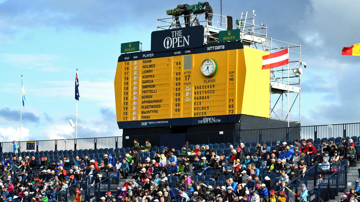 2019 british open leaderboard  live coverage  tiger woods score  golf scores on friday
