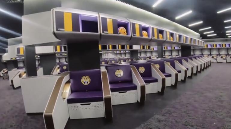 Watch Lsu S New Locker Room Reveal Cbssports Com