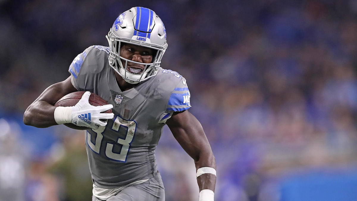 Lions running back Kerryon Johnson makes unexpected return to ...