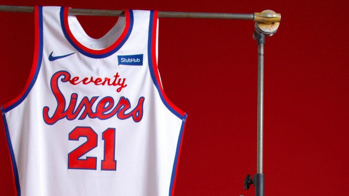 more photos 14d94 3c721 LOOK: 76ers unveil Classic Edition throwback uniforms for ...