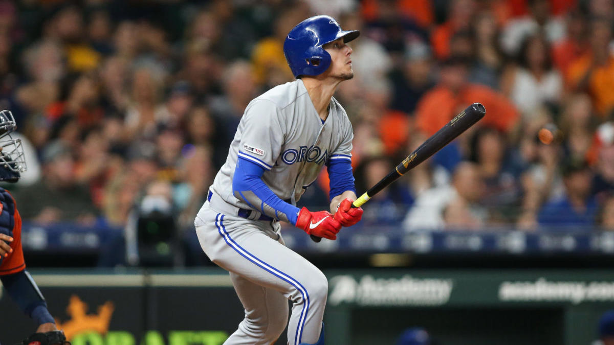 Blue Jays' Cavan Biggio joins dad Craig by hitting for cycle, making them second father-son pairing ever to do so