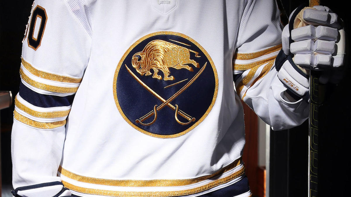 Buffalo Sabres unveil golden 50th anniversary jerseys, announce they'll go back to royal blue in 2020