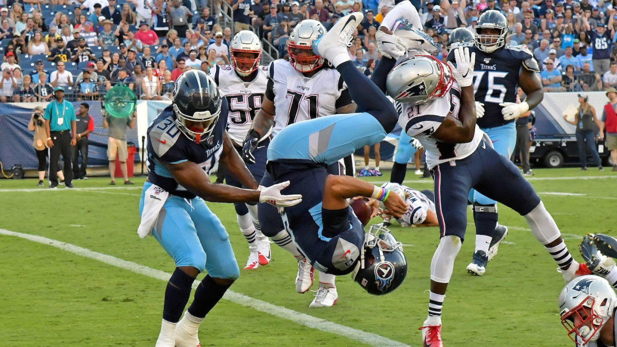 67165598 NFL Week 2 preseason scores: Patriots rookies impress against Titans ...