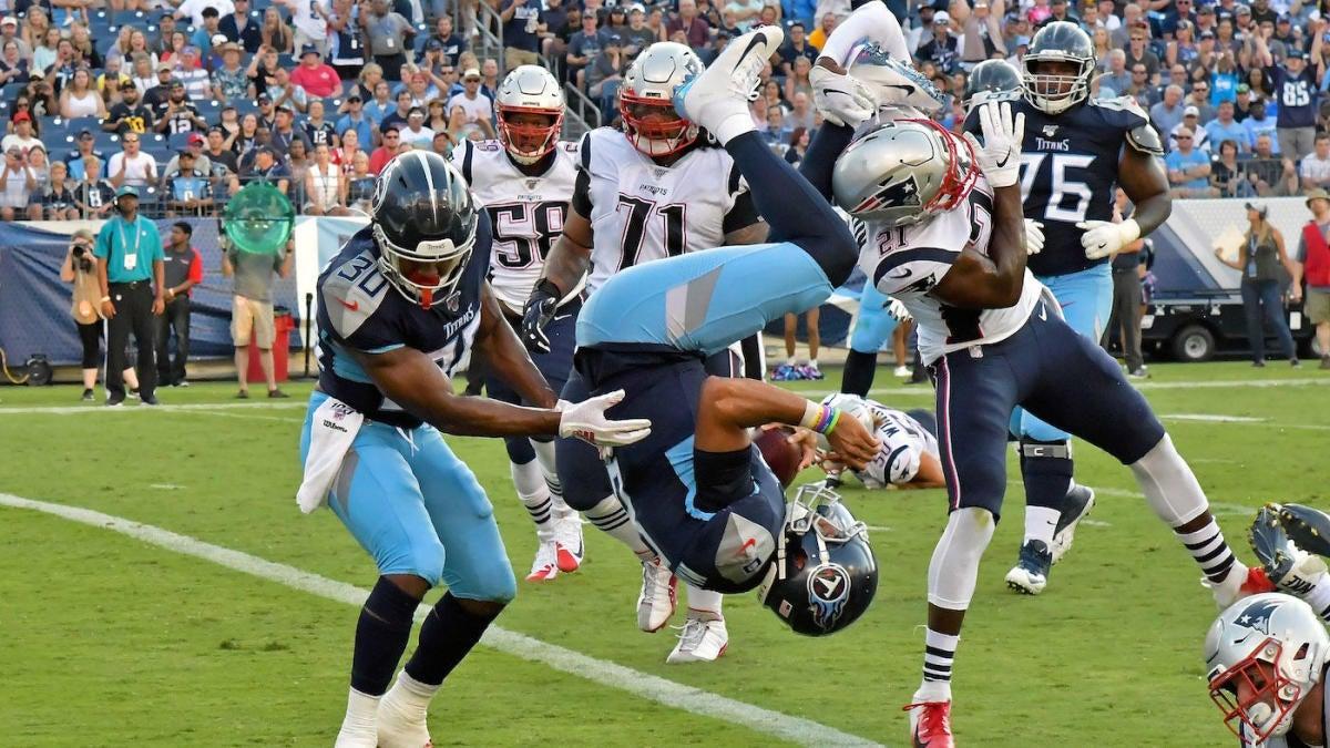 89a79112 NFL Week 2 preseason scores: Patriots rookies impress against Titans ...