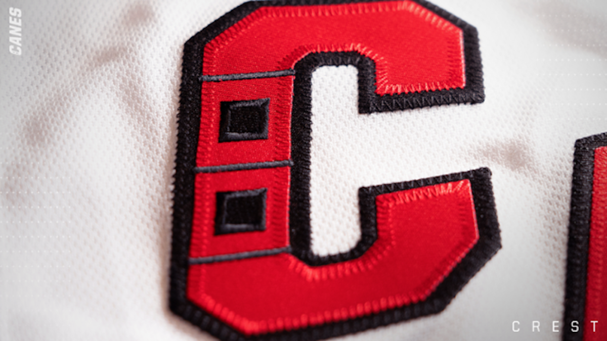 quality design aedd1 051fa Carolina Hurricanes go with 'Canes,' diagonal lettering on ...