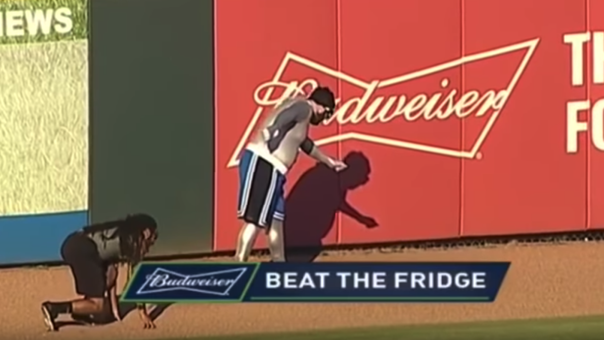 Introducing 'The Fridge': Meet baseball's newest great outfield racing attraction