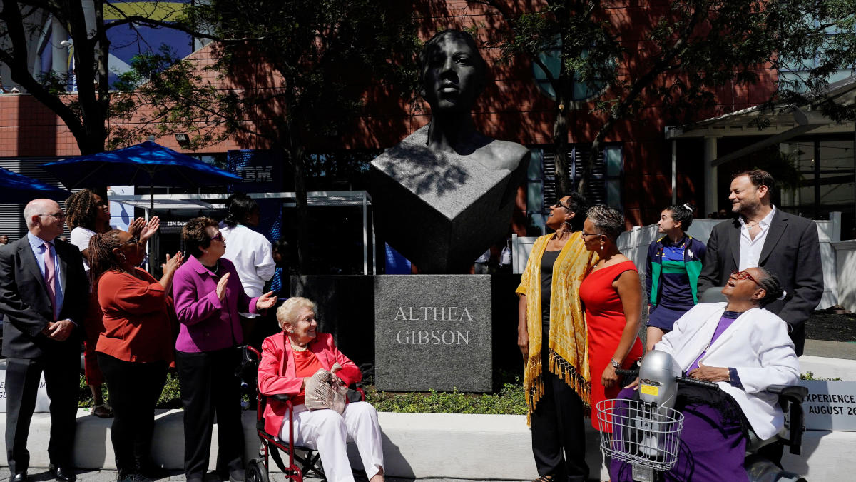 Althea Gibson, iconic tennis champion and trailblazer, honored with sculpture at US Open