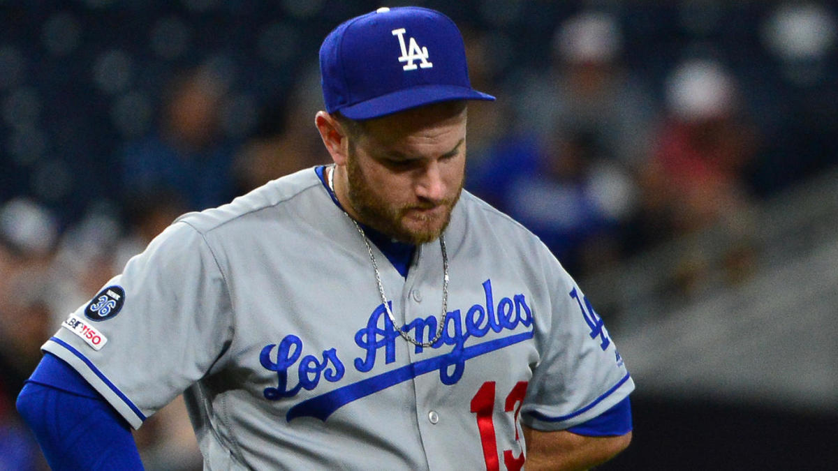 separation shoes b4af1 a3d2e Dodgers slugger Max Muncy exits game after being hit on the ...