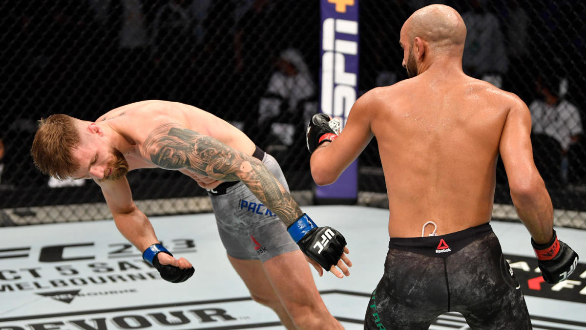 Ufc 242 Results Highlights Ottman Azaitar Delivers Thunderous Knockout Win On Prelims Cbssports Com