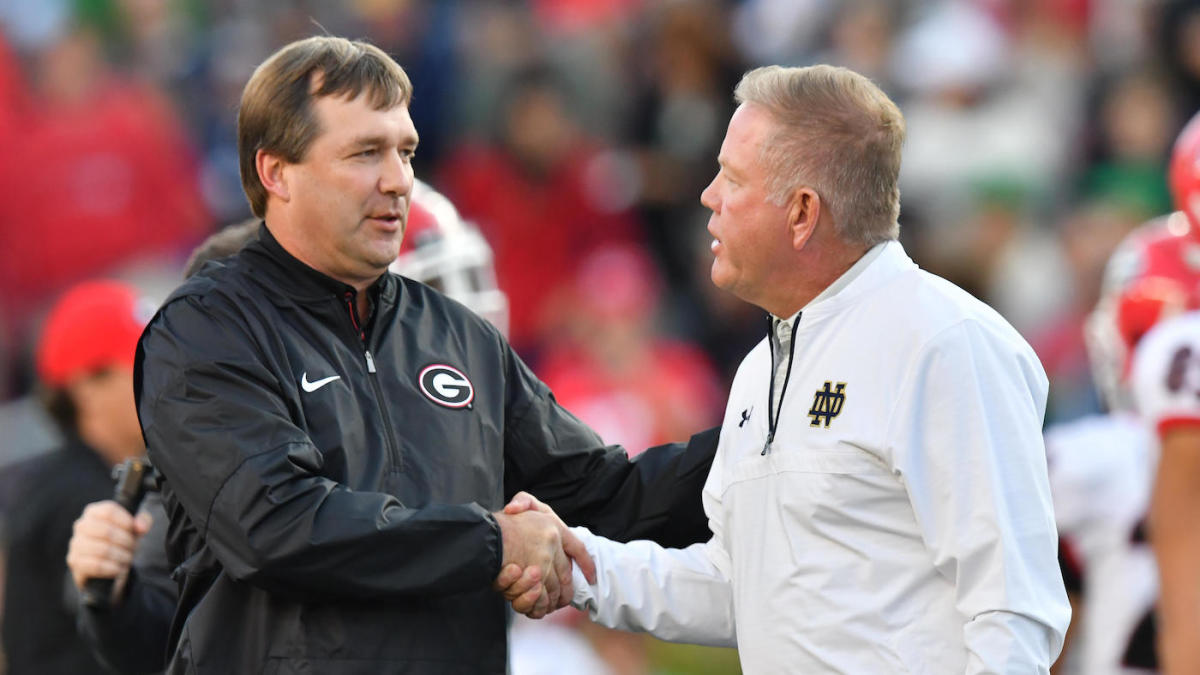 College football odds, lines, schedule for Week 4: Georgia opens as big favorite over Notre Dame