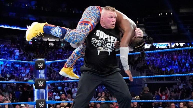 WWE SmackDown results, recap, grades: Brock Lesnar makes shocking return, Harper and Rowan terrorize