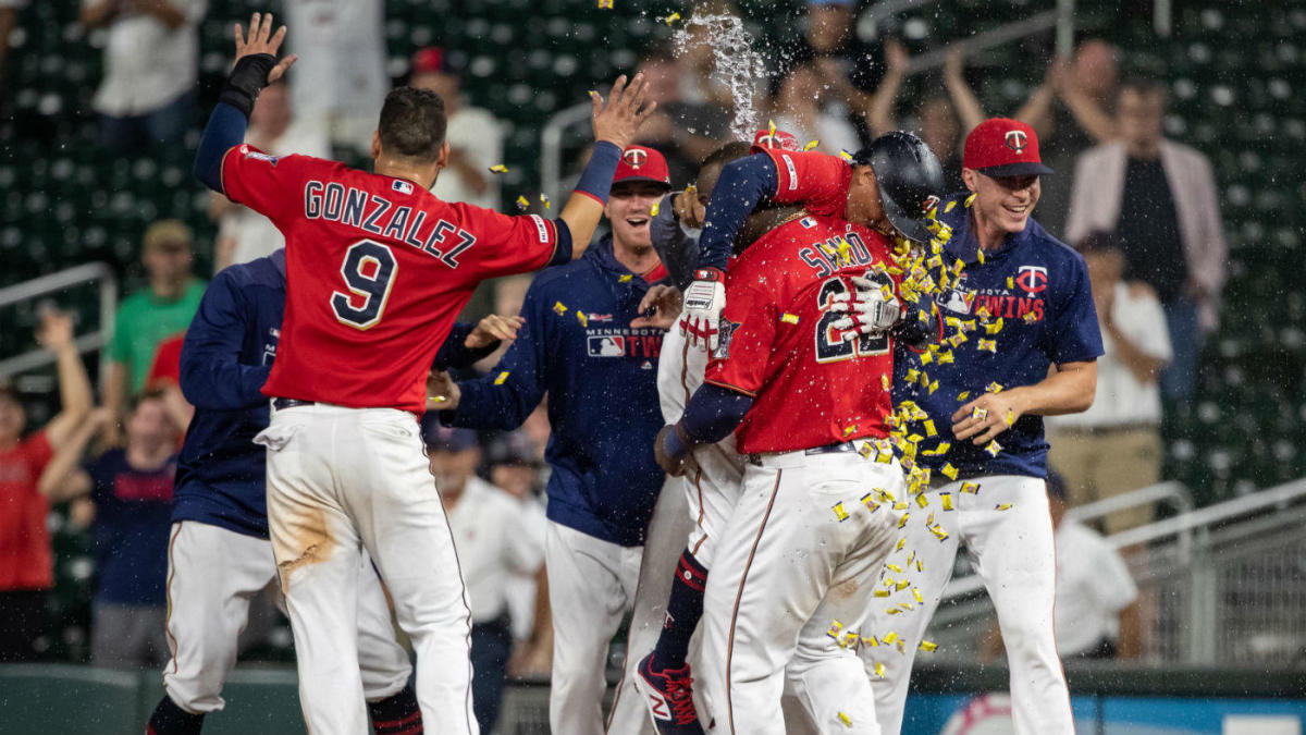 Twins win on a walk-off hit batsman, reducing their magic number in the AL Central to seven games