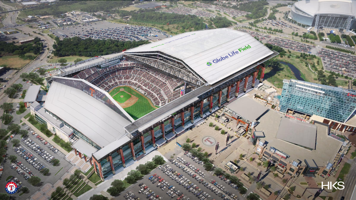 LOOK: Twitter roasts Texas Rangers for new stadium, compares it to an abandoned warehouse - CBS Sports thumbnail