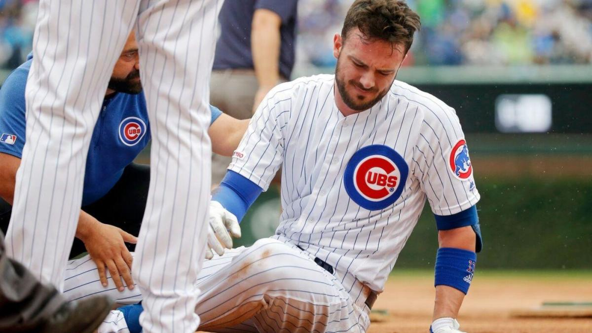 Cubs' lousy weekend gets worse as Kris Bryant leaves game after slipping on base, spraining ankle