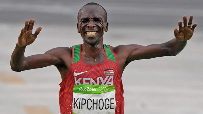 Eliud Kipchoge becomes first athlete to run marathon in less than two hours, but it's not a world record