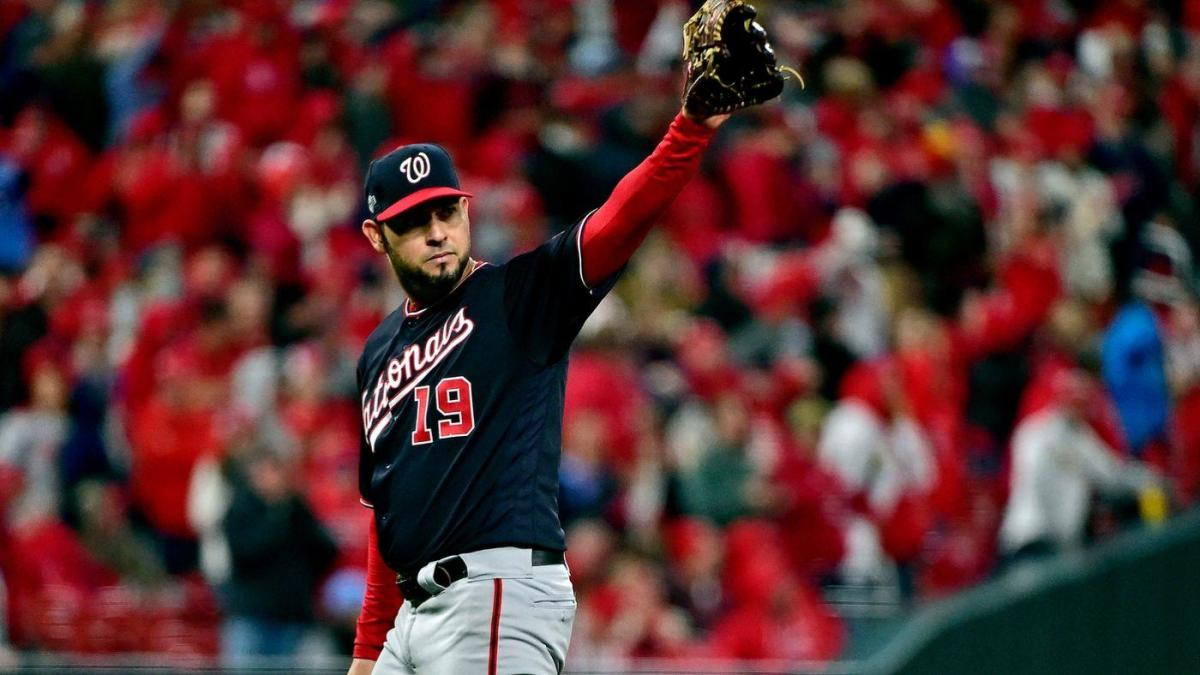 Cardinals vs. Nationals score: Live NLCS Game 1 updates as Anibal Sanchez loses no-hit bid in eighth - CBS Sports thumbnail