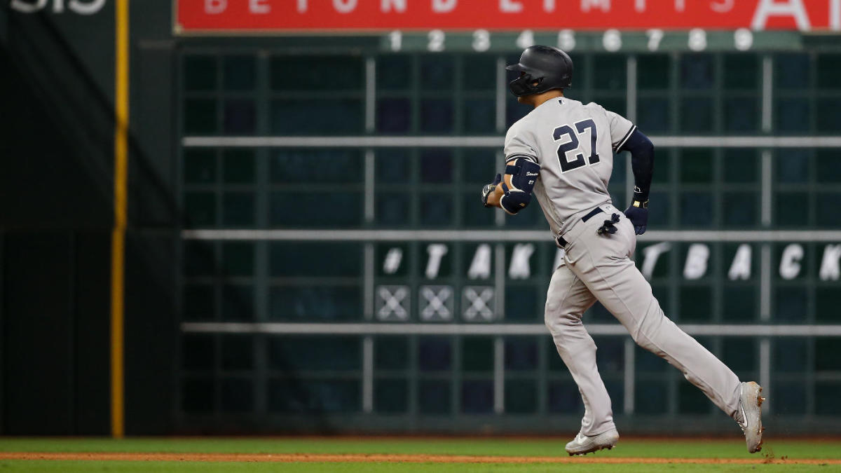 Yankees vs. Astros: Giancarlo Stanton not in ALCS Game 2 lineup due to quad injury