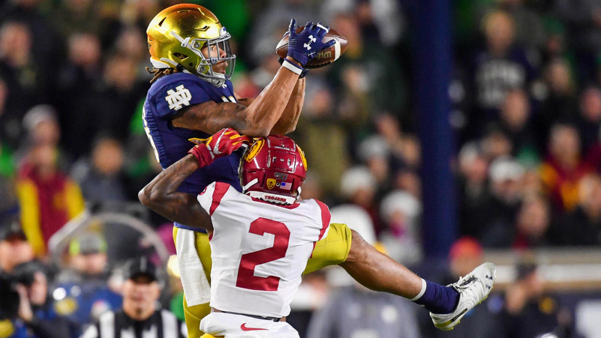 Notre Dame vs. USC score: No. 9 Fighting Irish hold off furious rally from Trojans for win – CBS Sports