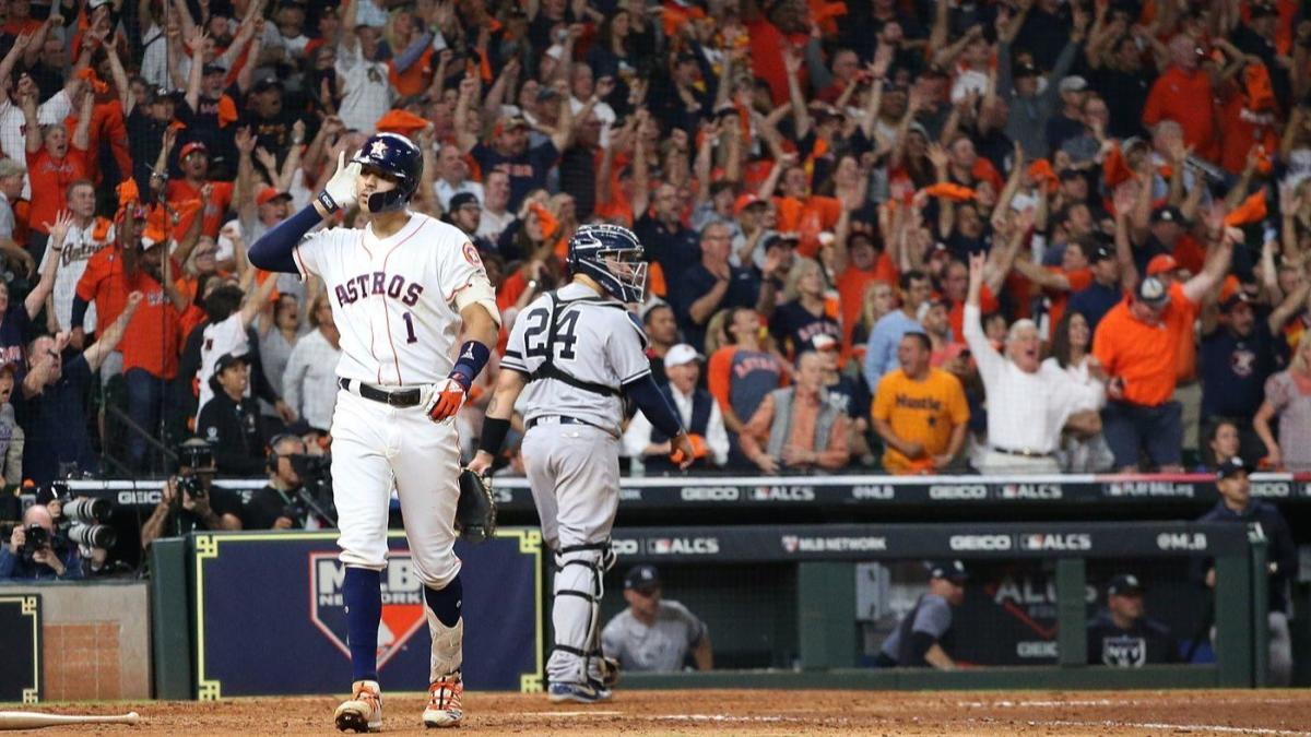 Astros' Carlos Correa raises the bar on ALCS showmanship with incredible Game 2 walk-off celebration