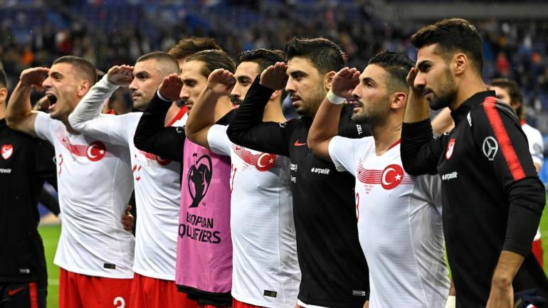 Turkish players under UEFA investigation for controversial military salute in match against France