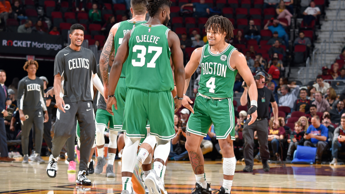 Celtics' Carsen Edwards makes nine 3-pointers, scores 26 points in third quarter alone vs. Cavaliers