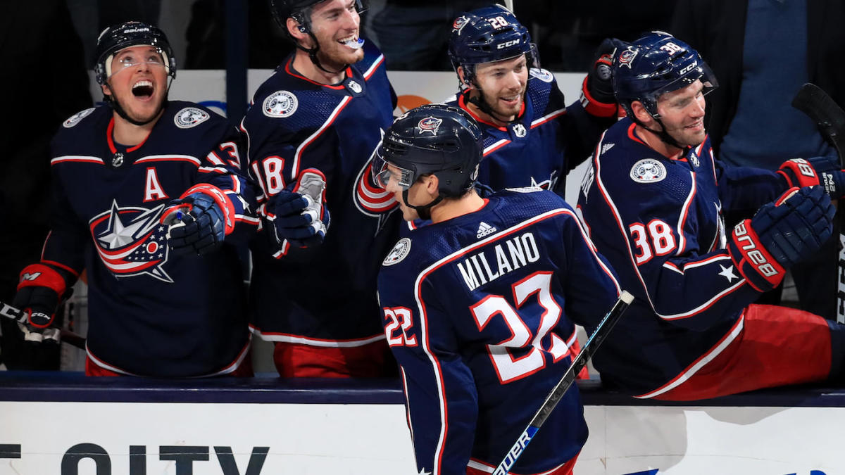 Blue Jackets' Sonny Milano displays extreme audacity with sick through-the-legs goal
