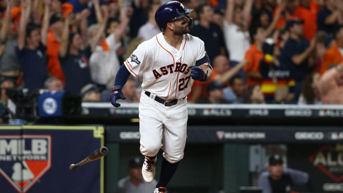 Astros players hit by pitch proposition bet odds released by SportsLine