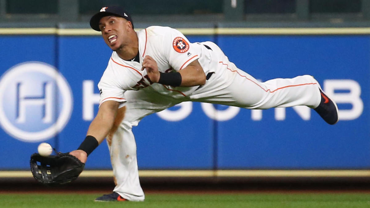 Yankees vs. Astros: Michael Brantley makes spectacular diving catch, doubles off Aaron Judge in ALCS Game 6