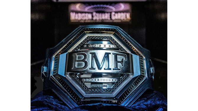 LOOK: UFC unveils 'BMF' title belt ahead of Nate Diaz vs. Jorge Masvidal UFC 244 main event