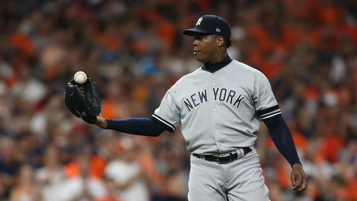 Yankees pitcher Aroldis Chapman appears to be spending his ...