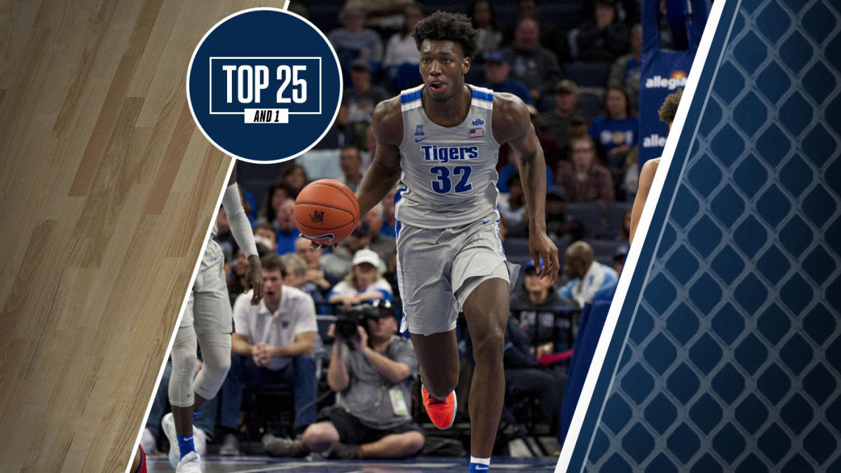 College Basketball Rankings Memphis No 7 In Top 25 And 1