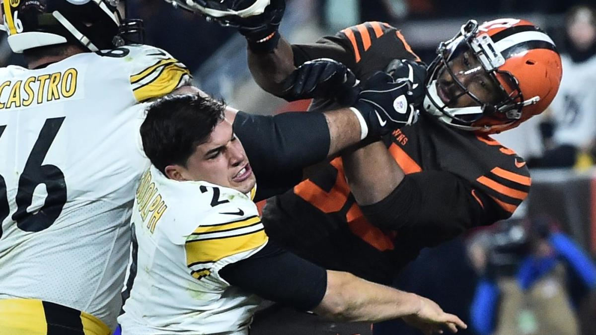 Steelers Browns Fight Myles Garrett Suspended Indefinitely