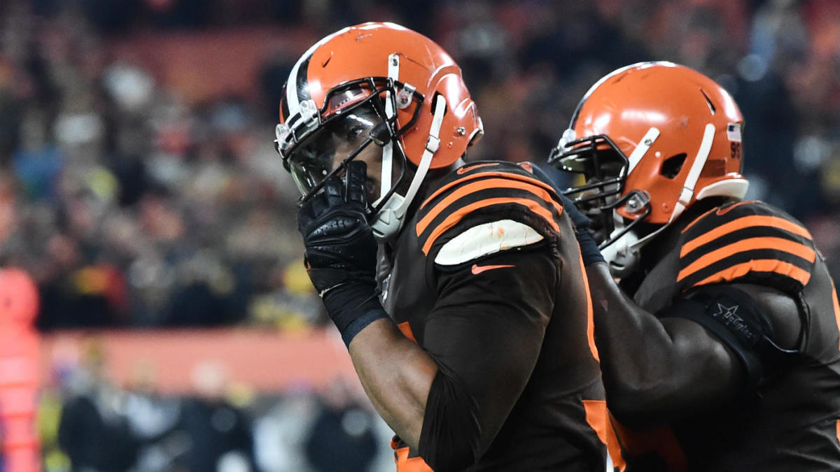 Browns coach Freddie Kitchens on Myles Garrett's suspension: 'The ball is in his court on how he responds'