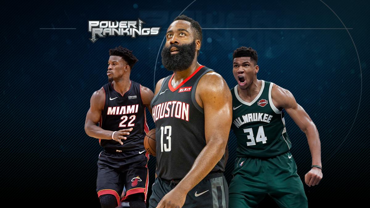 NBA Power Rankings: James Harden leads scorching Rockets; Lakers back on top; Bucks, Heat keep rolling