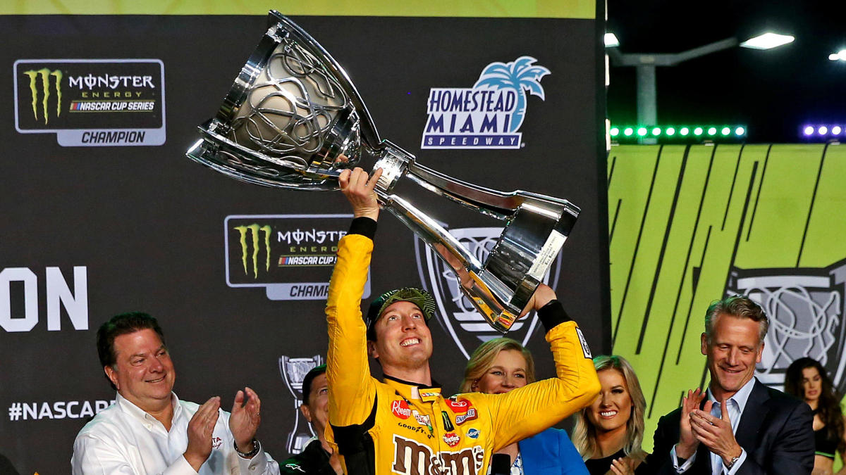 Kyle Busch wins second NASCAR Cup title at Miami, becomes winningest driver of the decade