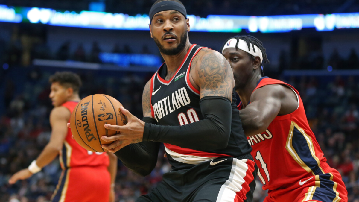 Carmelo Anthony's Blazers debut doesn't look great on paper, but there were SOME encouraging signs - CBSSports.com
