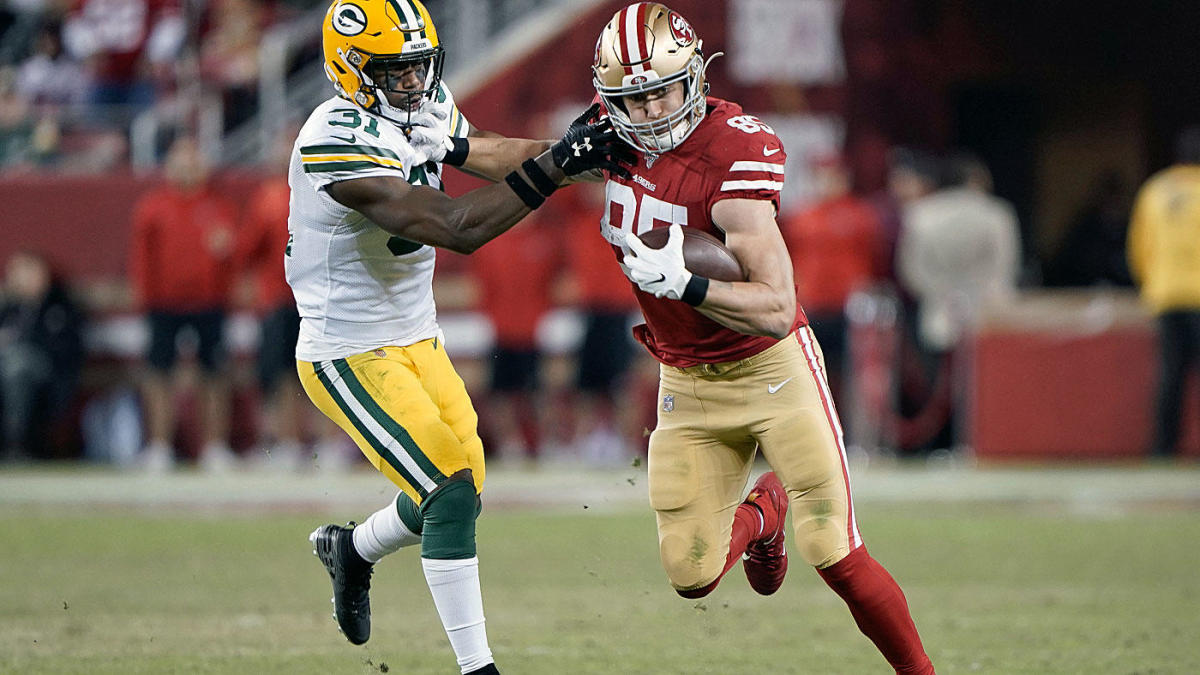 George Kittle a dominating force for 49ers despite playing with a fractured ankle