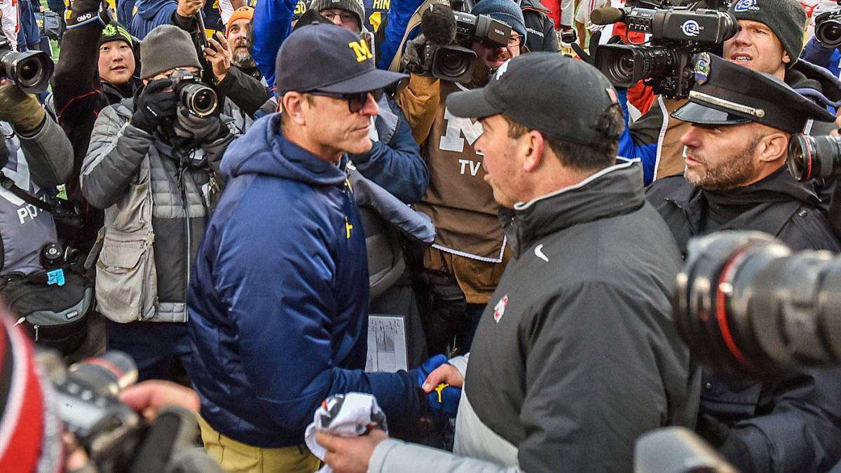 Jim Harbaugh accuses Ryan Day and Ohio State of breaking rules during Big Ten conference call