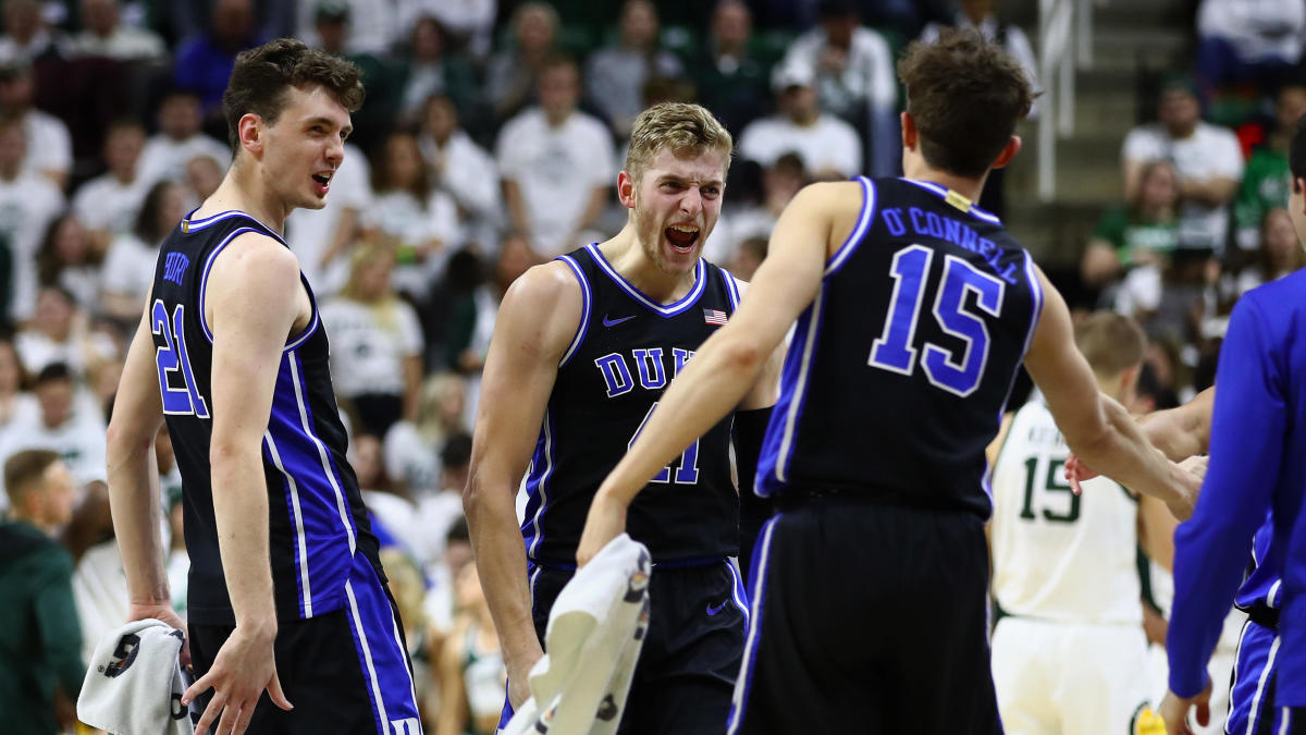 College Basketball Rankings Duke Jumps To No 2 Kansas To
