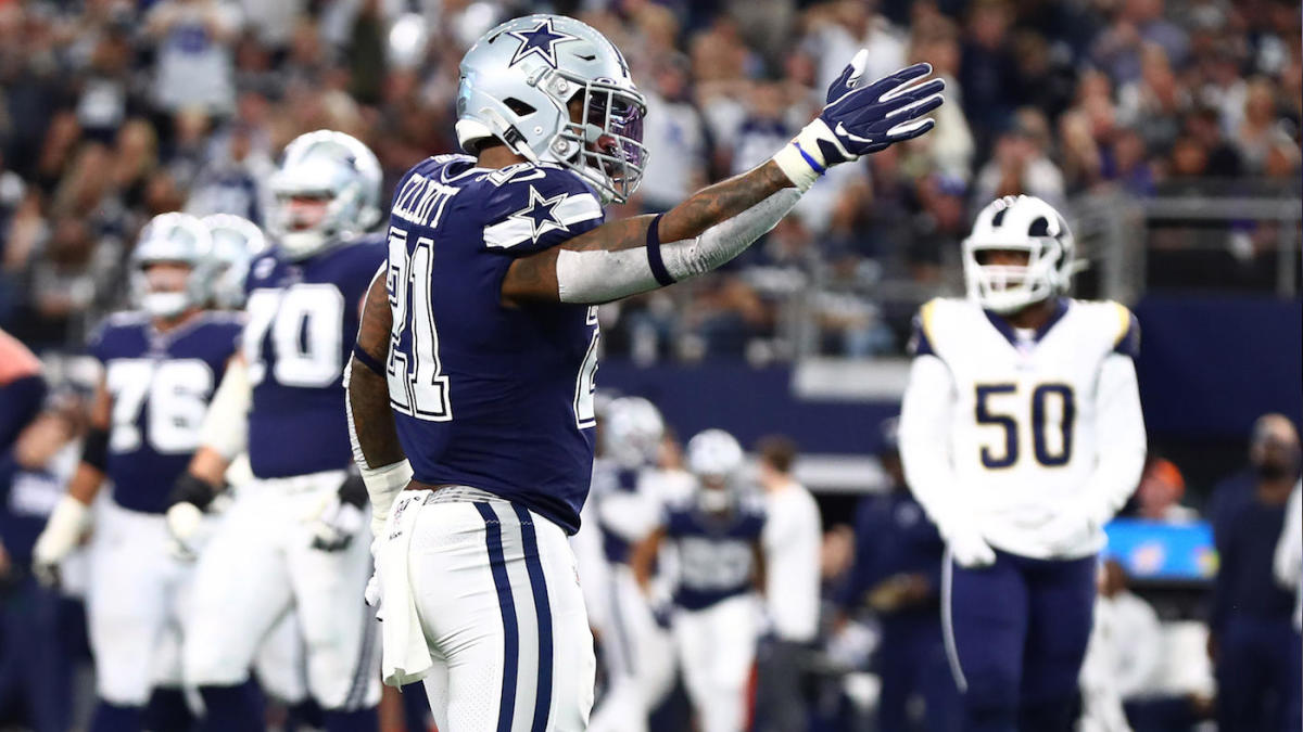 Cowboys' Ezekiel Elliott, Tony Pollard react to historic rushing day in manhandling of Rams
