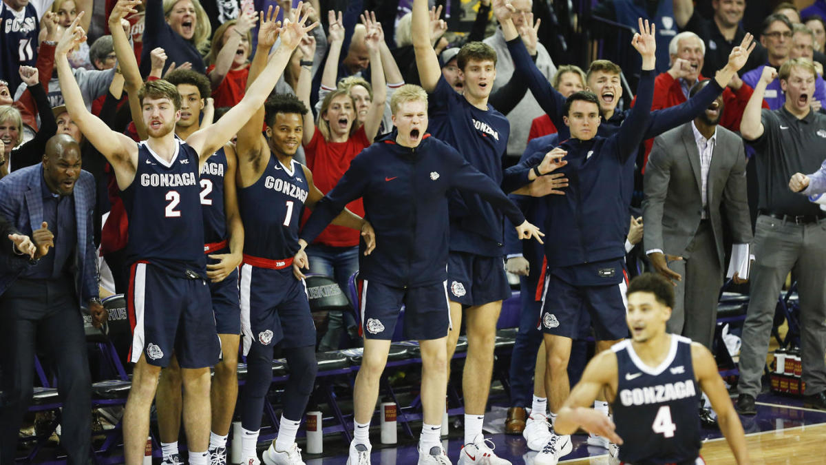 College Basketball Rankings Gonzaga Becomes The Sixth Team